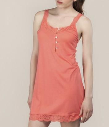 Коралловое платье Gisela 31511 с кружевом