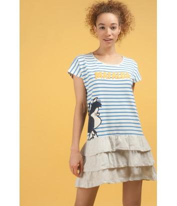 Хлопковое платье Gisela 21497 в полоску