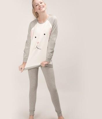 Женская пижама Gisela 21465 серая