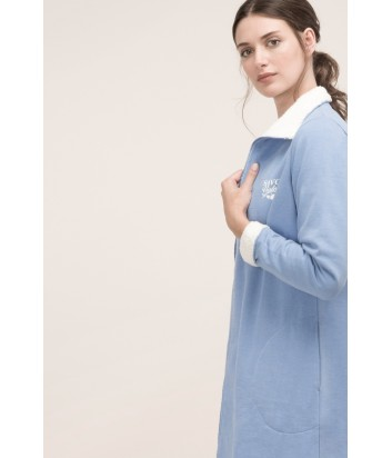 Хлопковый халат Gisela 21460 голубой