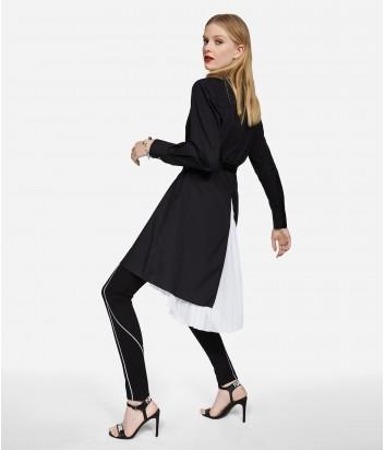 Платье-рубашка Karl Lagerfeld с плиссированной задней вставкой жоржетта