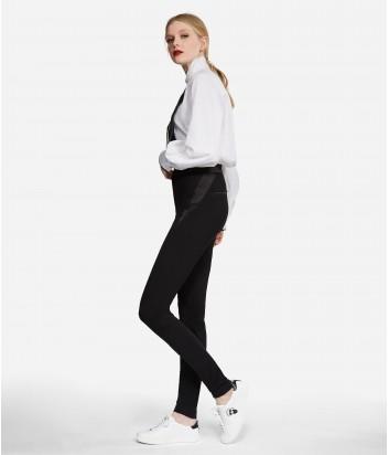 Женские брюки Karl Lagerfeld с завышенной талией и сатиновыми вставками