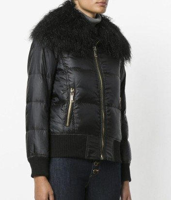 Женская куртка Michael Kors со съемным меховым воротником черная