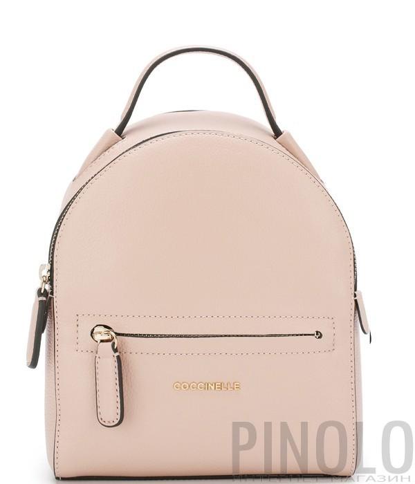 94acd2b63877 Женский рюкзак Coccinelle Clementine в мягкой коже розовый - купить ...