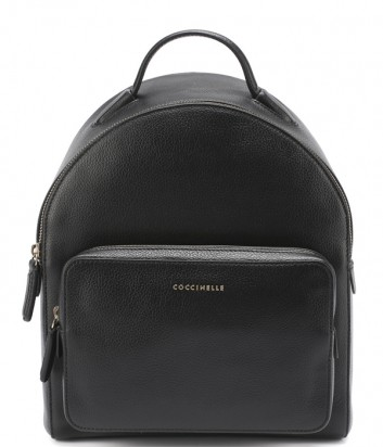 Большой рюкзак Coccinelle Clementine из матовой зернистой кожи черный