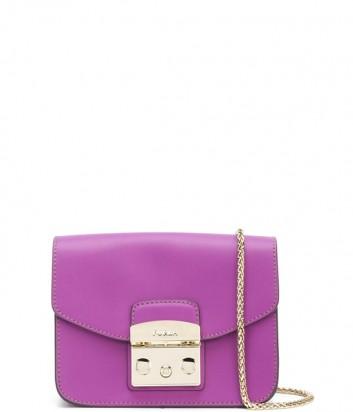 Маленькая кожаная сумка Furla Metropolis 962554 через плечо фиолетовая