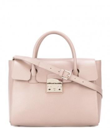 Большая кожаная сумка Furla Metropolis 856489 розовая