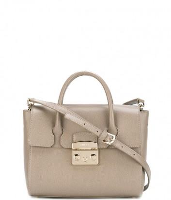Средняя кожаная сумка Furla Metropolis 851152 серая
