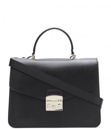 Большая сумка Furla Metropolis 962777 с откидным клапаном черная