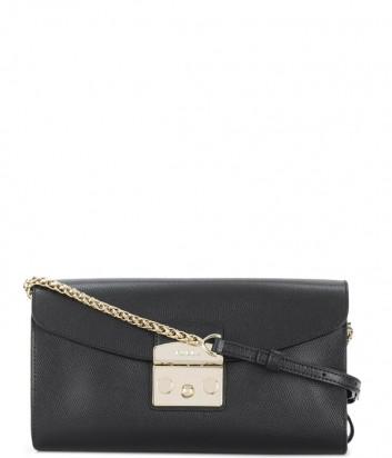 Маленькая кожаная сумка через плечо Furla Metropolis 962799 черная