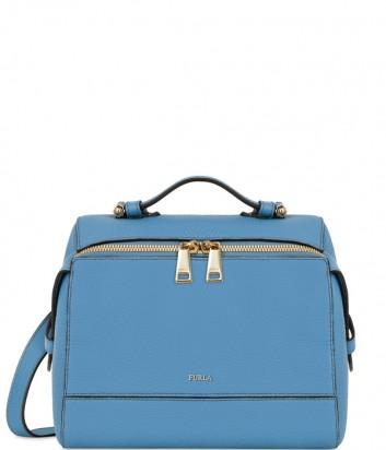 Кожаная сумка-рюкзак Furla Dalia 961790 голубая