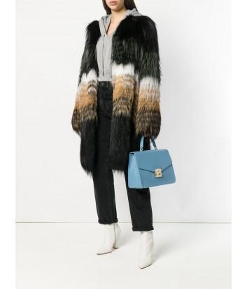Большая сумка Furla Metropolis 962774 с откидным клапаном голубая
