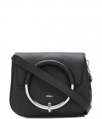 Кожаная сумка Furla Margherita 963547 с откидным клапаном черная