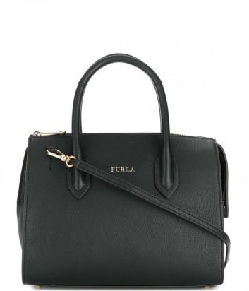 Маленькая кожаная сумка Furla Pin 924712 на молнии черная