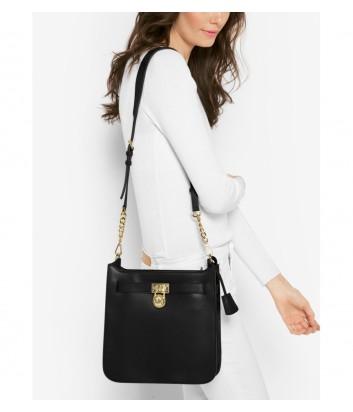 Кожаная сумка через плечо Michael Kors Hamilton черная