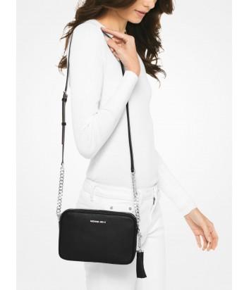 Кожаная сумка через плечо Michael Kors Ginny с кисточкой черная
