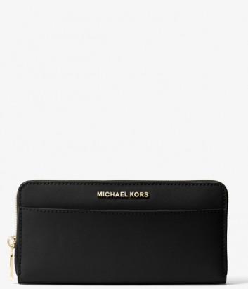 Кожаный кошелек на молнии Michael Kors Money Pieces черный