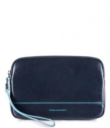 Кожаная барсетка-портмоне Piquadro Blue Square AC3944B2 синяя