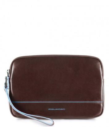 Кожаная барсетка-портмоне Piquadro Blue Square AC3944B2 коричневая