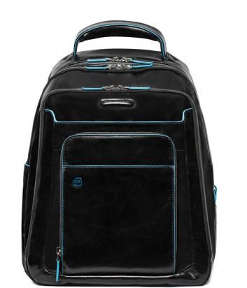 Кожаный рюкзак Piquadro Blue Square CA1813B2 с отделением для ноутбука черный