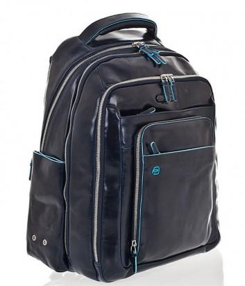 Кожаный рюкзак Piquadro Blue Square CA1813B2 с отделением для ноутбука синий