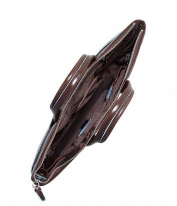 Деловая кожаная сумка Piquadro Blue Square CA1618B2 коричневая