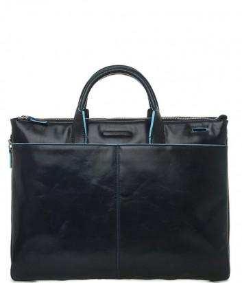 Деловая кожаная сумка Piquadro Blue Square CA1618B2 синяя