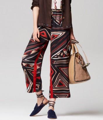Легкие брюки Maliparmi свободного кроя с ярким принтом