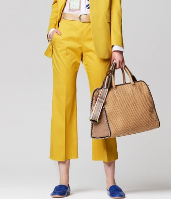 Расклешенные брюки Maliparmi укороченные желтые