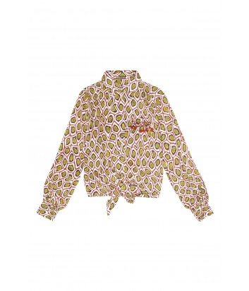 Легкая блуза Maliparmi Mille Fiori с венецианским принтом