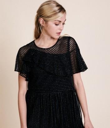Черное платье Manoush с глиттерными полосками