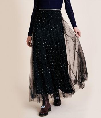 Длинная юбка Manoush Monroe с декором черная