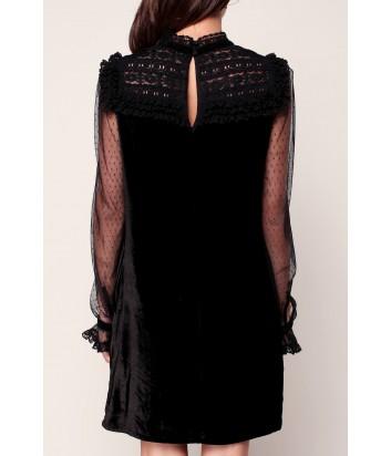 Бархатное платье Manoush Victorienne с полупрозрачными рукавами