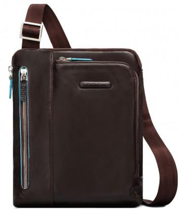 Кожаная сумка через плечо Piquadro Blue Square CA1816B2 коричневая