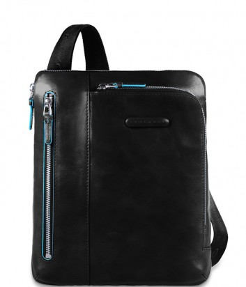 Кожаная сумка через плечо Piquadro Blue Square CA1816B2 черная