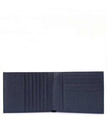 Мужское портмоне Piquadro Modus PU1241MO с отделениями для 12 карт синее