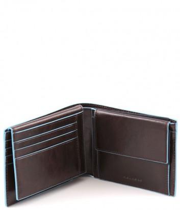 Портмоне Piquadro Blue Square PU1392B2 с отделением для документов коричневое