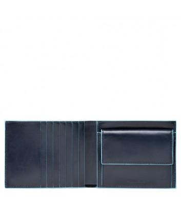 Кожаное портмоне Piquadro Blue Square PU1239B2R синее