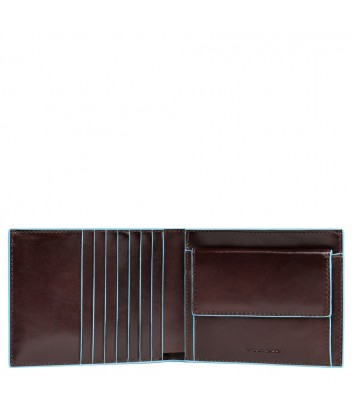 Кожаное портмоне Piquadro Blue Square PU1239B2R коричневое