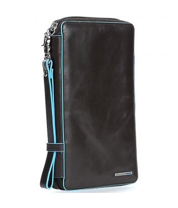 Кожаное портмоне Piquadro Blue Square PP3246B2 на молнии черное