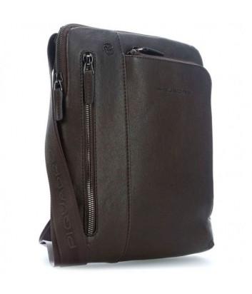 Кожаная сумка через плечо Piquadro Blue Square CA1816B3 коричневая