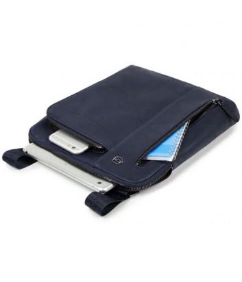 Кожаная сумка через плечо Piquadro Blue Square CA1816B3 черная