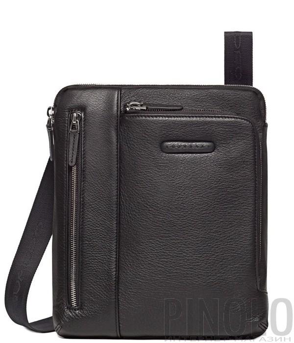 d18f96b0e093 Кожаная сумка через плечо Piquadro Modus CA1816MO черная - купить в ...
