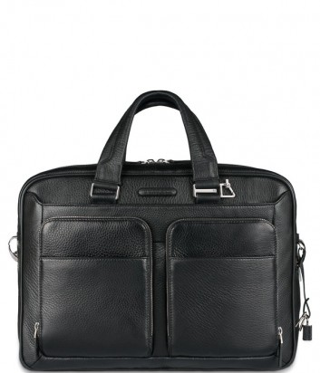 Кожаный портфель-сумка Piquadro Modus CA2849MO черный
