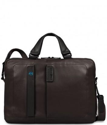 Кожаная сумка Piquadro Pulse CA1903P15 коричневая