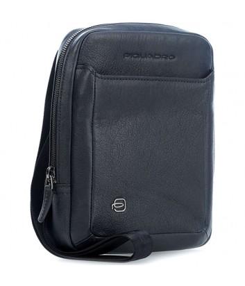 Кожаная сумка через плечо Piquadro Black Square CA3084B3 синяя