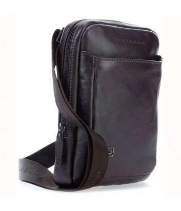 Кожаная сумка через плечо Piquadro Black Square CA3084B3 коричневая