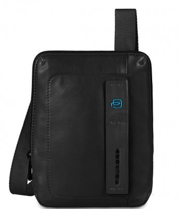 Кожаная сумка через плечо Piquadro Pulse CA3084P15 черная