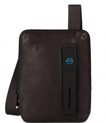 Кожаная сумка через плечо Piquadro Pulse CA3084P15 коричневая