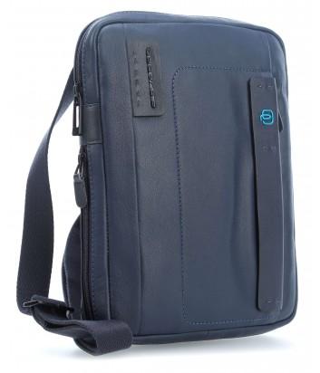 Кожаная сумка через плечо Piquadro Pulse CA3228P15 синяя
